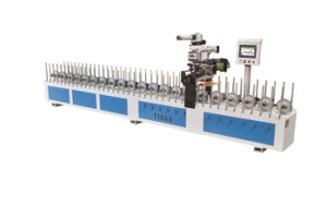 Aluminum Profile Wrapping Machine WPC Laminating Machine MDF Profile Sticking Machine Door Frame Wrapping Line Window Frame Profile Wrapping Machine